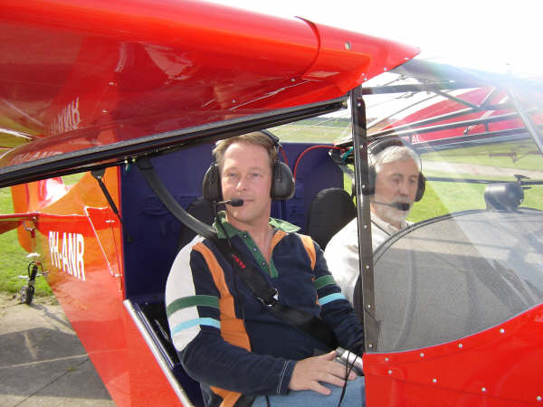 Rob and Jos at the controls